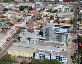 Vista aérea do Parque Industrial e Sede Administativa